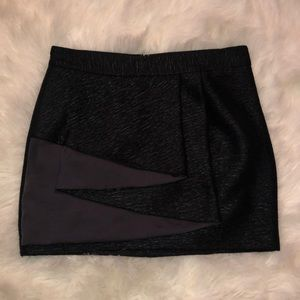 EUC BCBGeneration black ruffle textured mini skirt